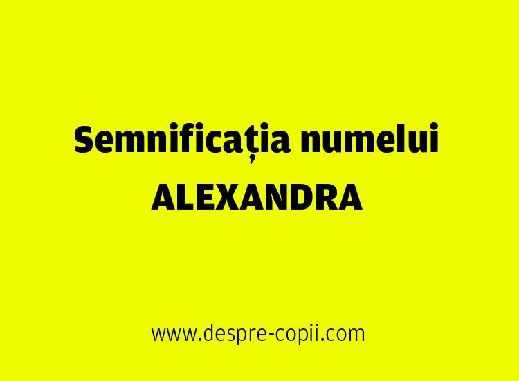 alexandra nume semnificatie