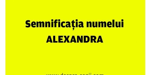 numele alexandra semnificatie origine