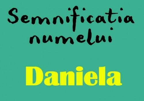 semnificatia numelui Daniela
